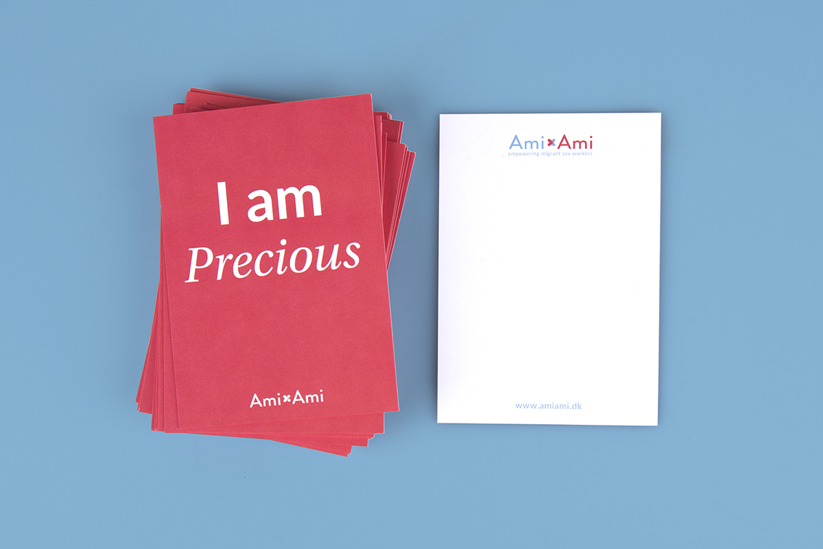 Ami Ami's postcards designed by Charlotte Ladiges.