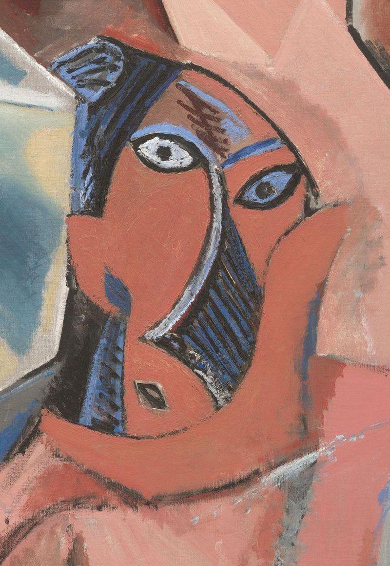 Detail of  Les Demoiselles d'Avignon , 1910 by Pablo Picasso.