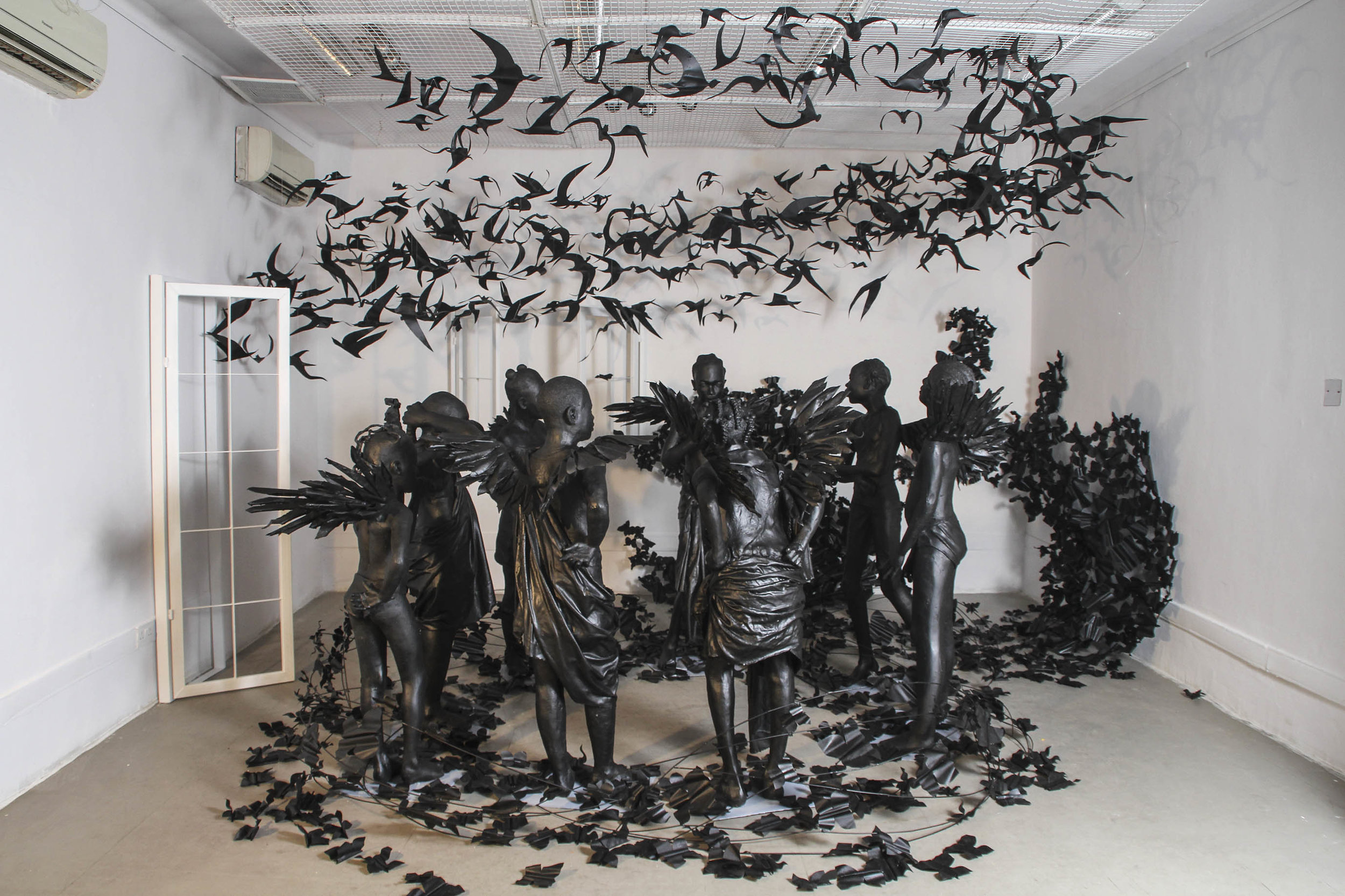 Flying Girls, 2017 installation at the Venice Biennale by Peju Alatise.