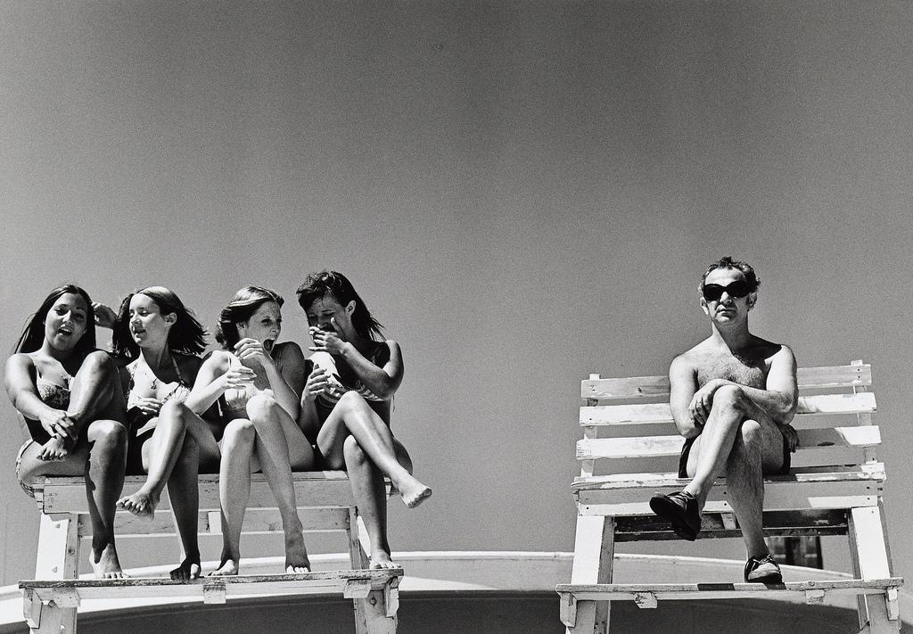 Undated photograph titled ' Lifeguard  by Joseph Szabo.