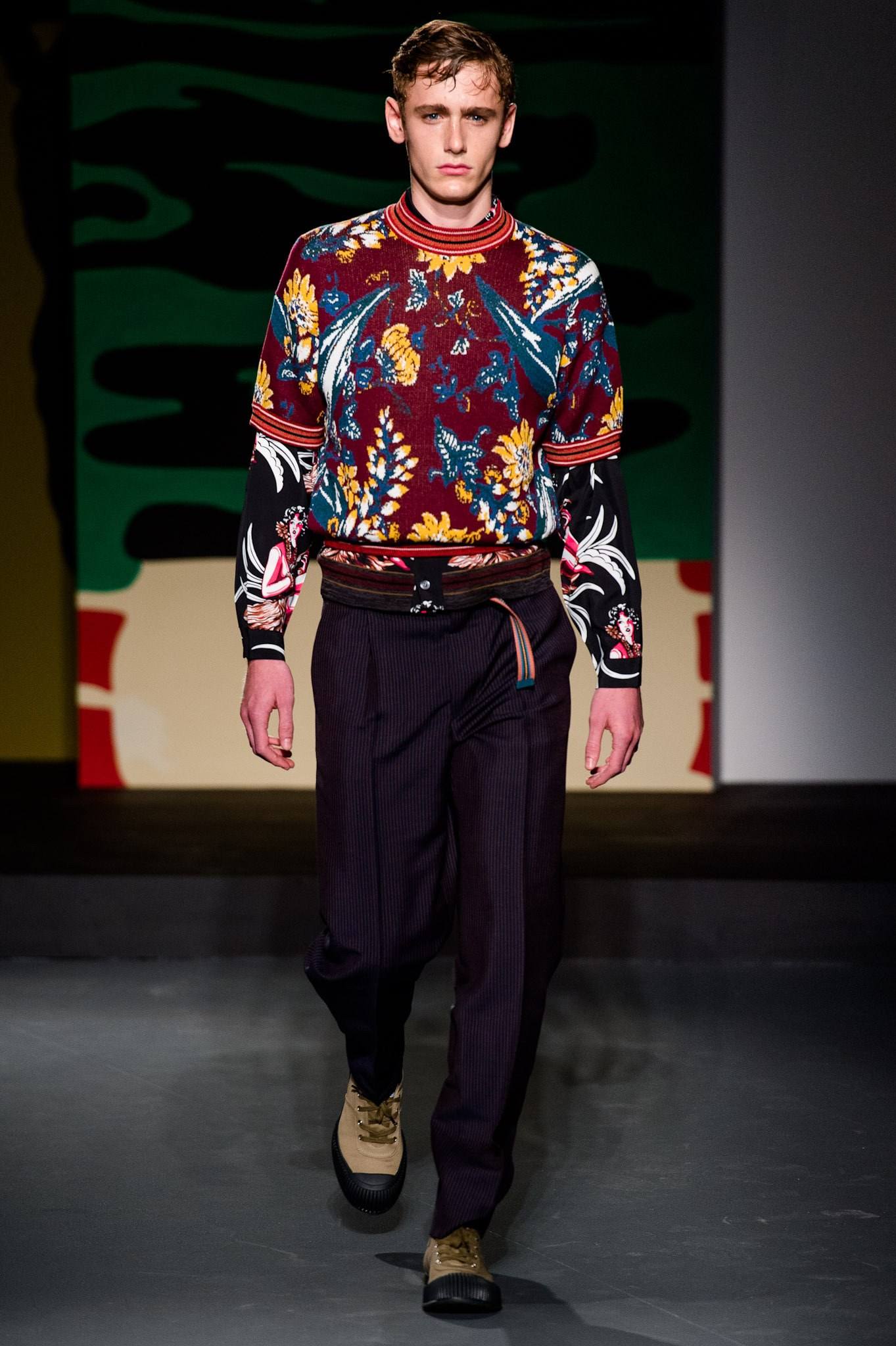 A look from Prada SS14 menswear collection.