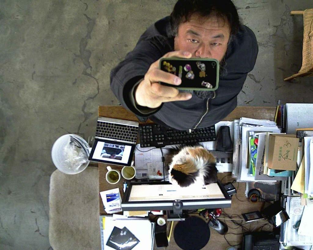 Stills from  'WeiweiCam' (now offline) , 2013 by Ai Weiwei.