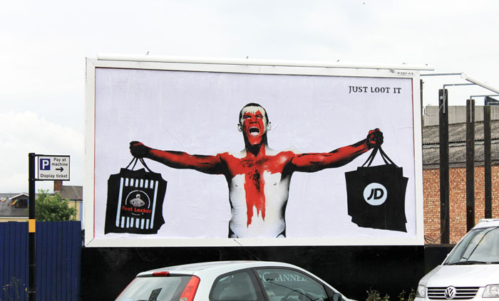Just Loot It  billboard campaign in the UK, 2012.