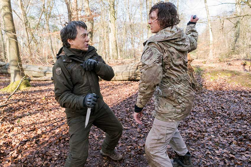 Still from  The Foreigner , 2017 - Rory Fleck Byrne in a fight scene with Jackie Chan.