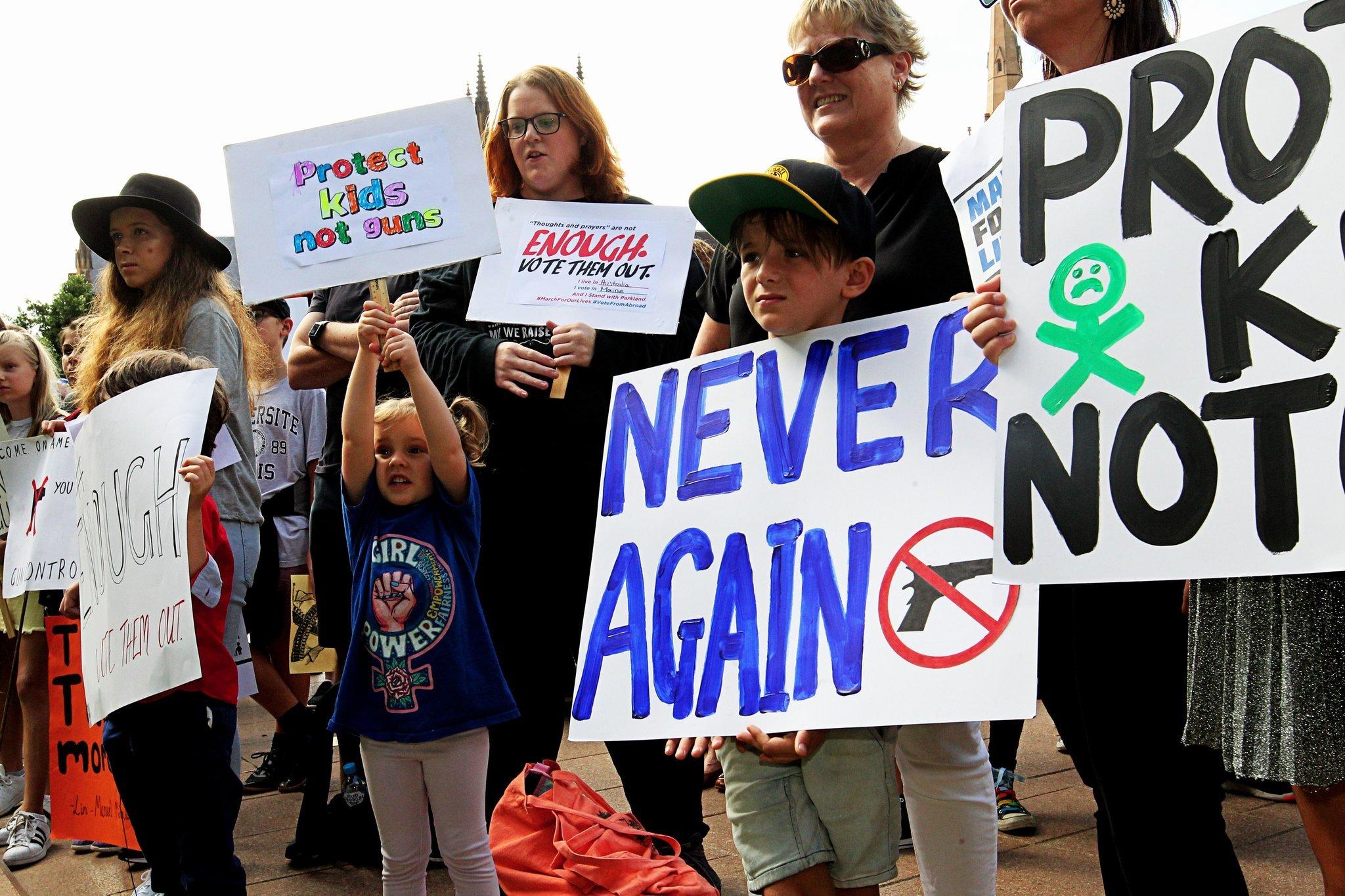 Protesters in Sydney, Australia, on Saturday. Photo by Danny Casey/EPA.