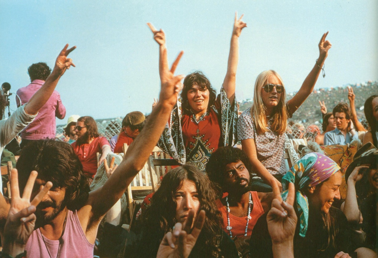 Hippies at the 1969 Isle of Wight Festival. Photo source:  Pinterest.