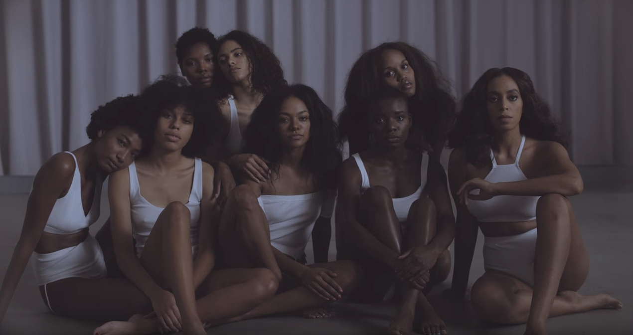 Still from Solange Knowles'  Crane in the Sky  music video, 2016.