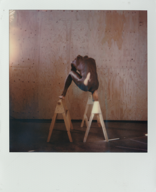 Self portrait polaroid from the series '  Own Narrative  '.