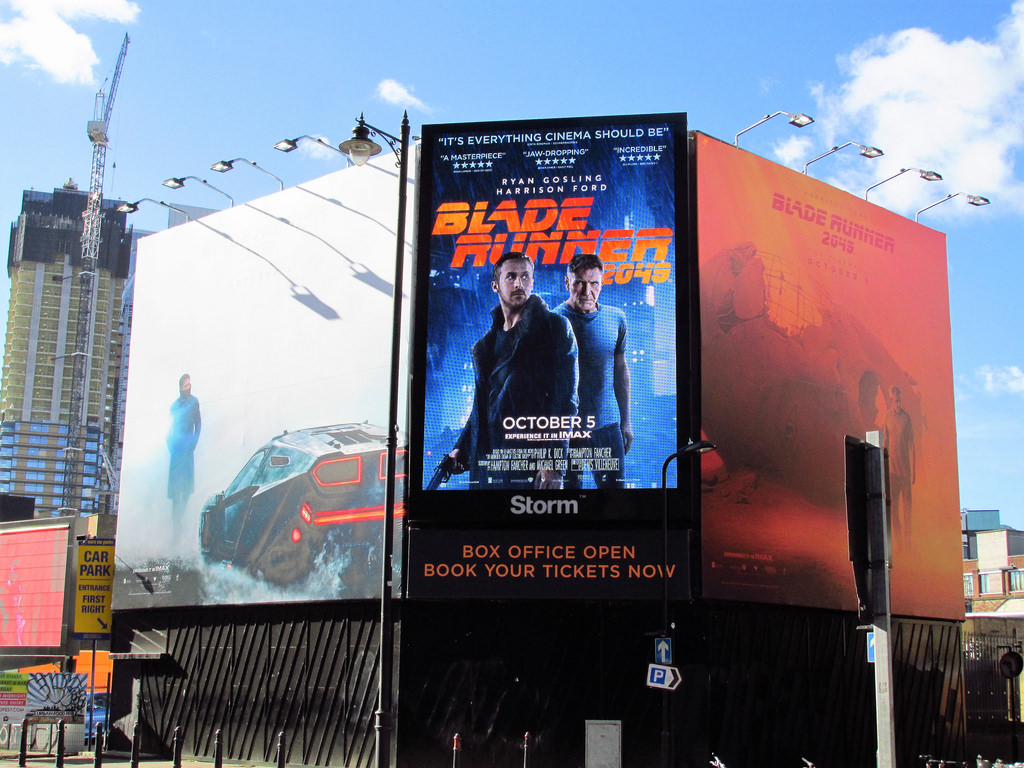 Blade Runner 2049 , 2017 posters advertisements in Shoreditch, London. Photo by David Holt.