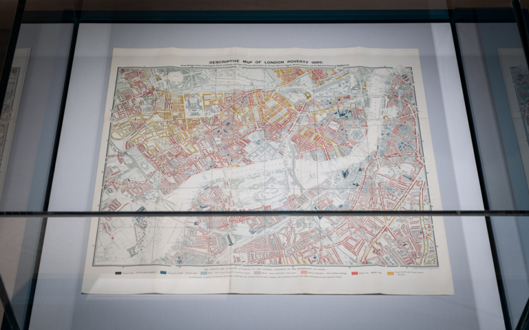 Descriptive map of London poverty , 1889 by Charles Booth.