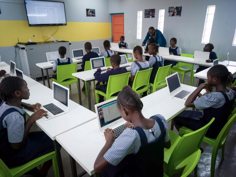 Computer program for girls school. Photo source:  Malaika.org