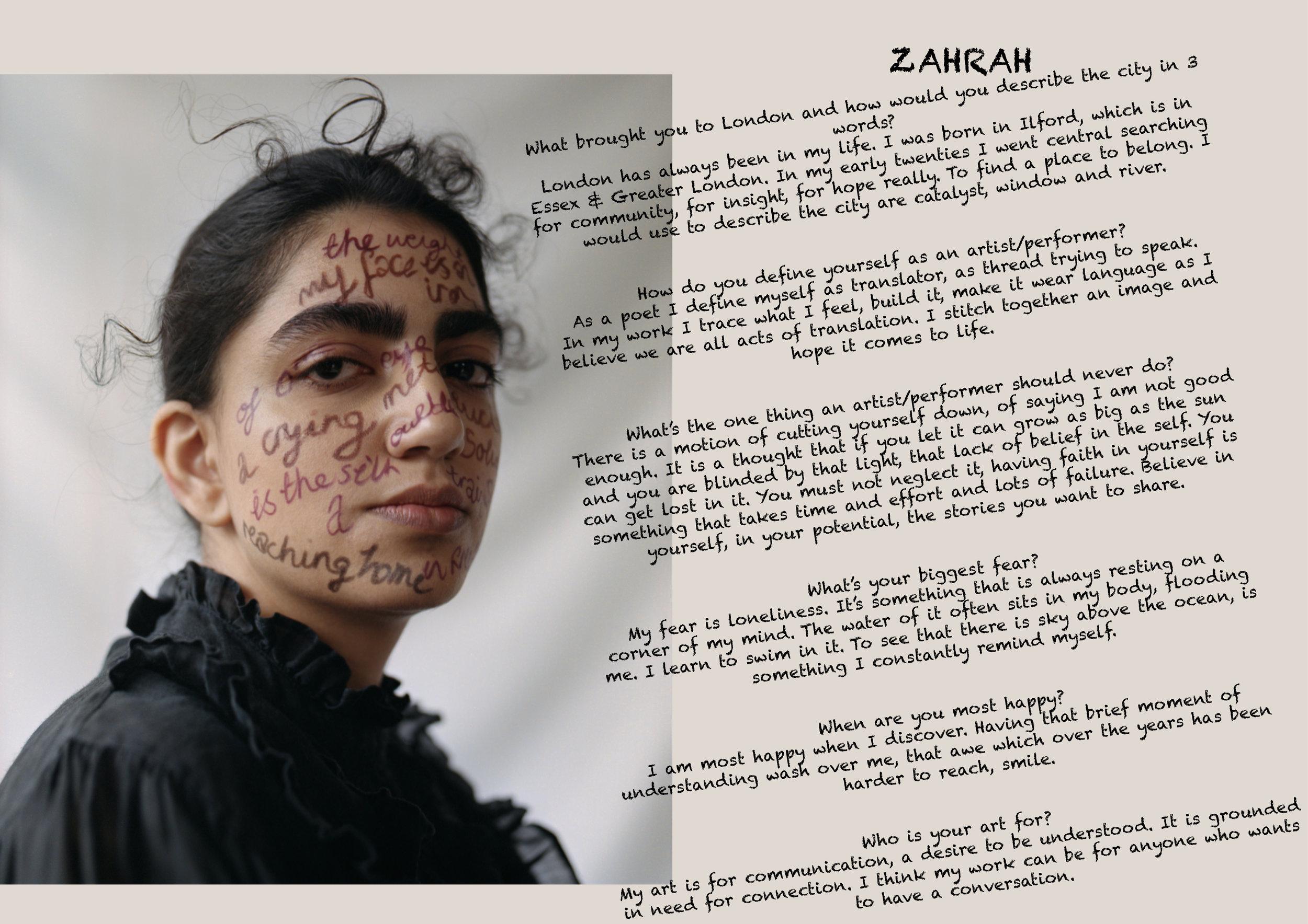 Zahrah wears Blouse vintage .