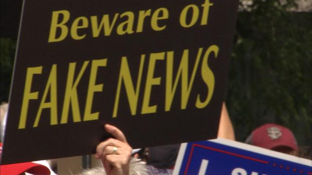 Fake news protest held at CNN, 2017.