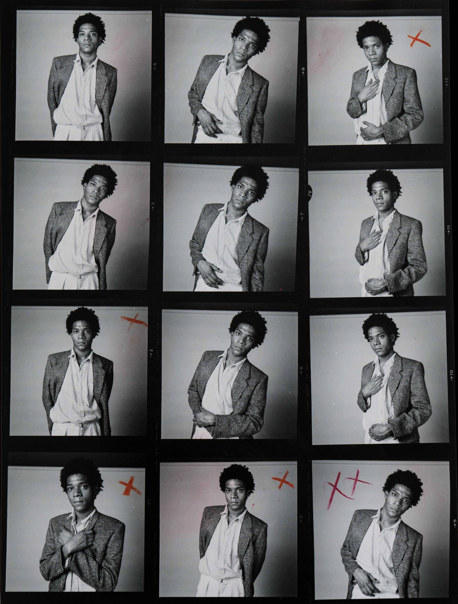 Contact sheet and extract from Richard Corman's 'A Portrait' book.