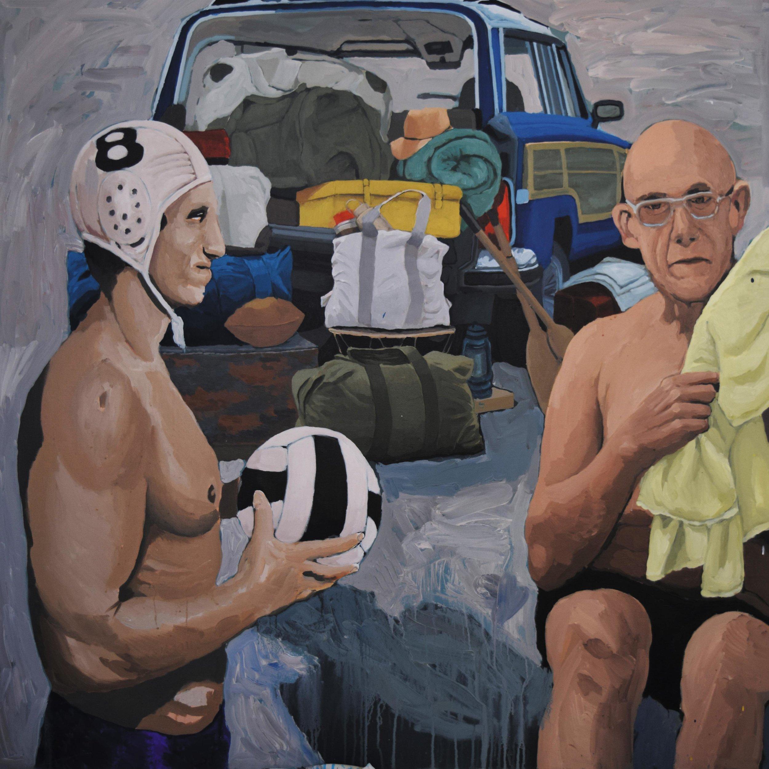 Foucault Picnic , 150 x 150 cm, acrylic on canvas.