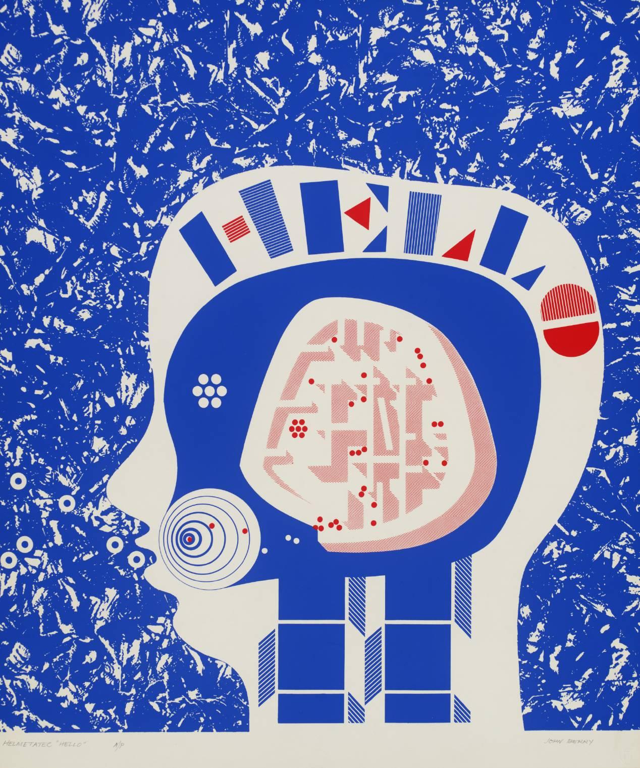 Helmetatec Hello , 1969–71 by John Berry.