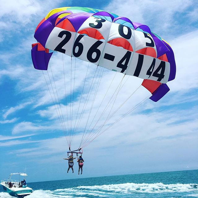 Time to take #flight w/#southbeachparasail #birdseyeview #southbeach #miami #miamibeach #bucketlist book online and save with our EARLY BIRD DISCOUNT $15 OFF!!!