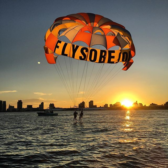 Come #walkonwater with #southbeachparasail #parasailing #southbeach #miami #miamibeach #sunset #bucketlist