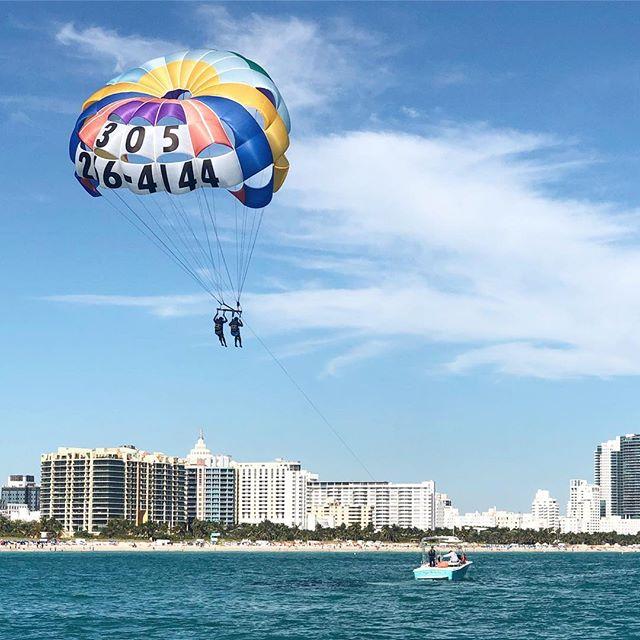 COME TAKE FLIGHT!!!#parasailing #miami #miamibeach #southbeach #southbeachmiami #bucketlist #southbeachparasail #flysobe