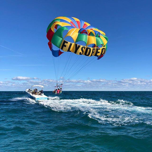 A truly unique Miami experience. Take flight with #southbeachparasail #miami #miamibeach #southbeachmiami #bucketlist #flysobe #yolo #parasailing