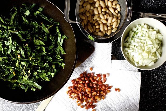 Pancetta, White Bean, and Chard Pot Pies from  Smitten Kitchen