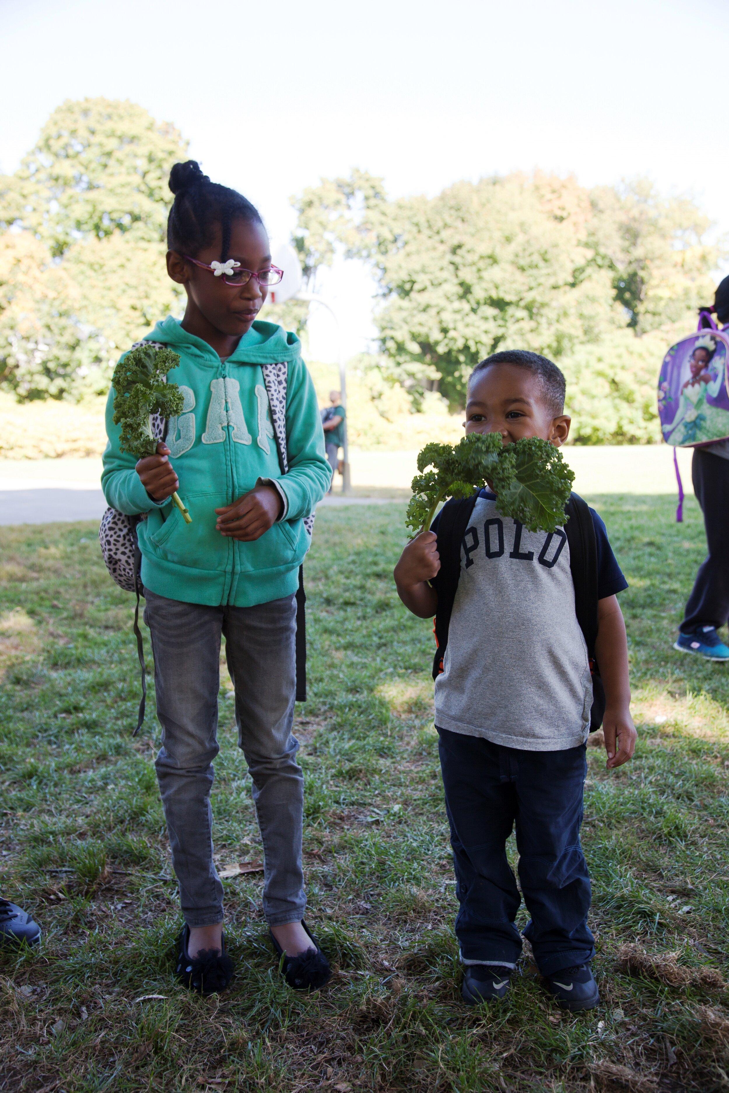 Kids Eating Kale