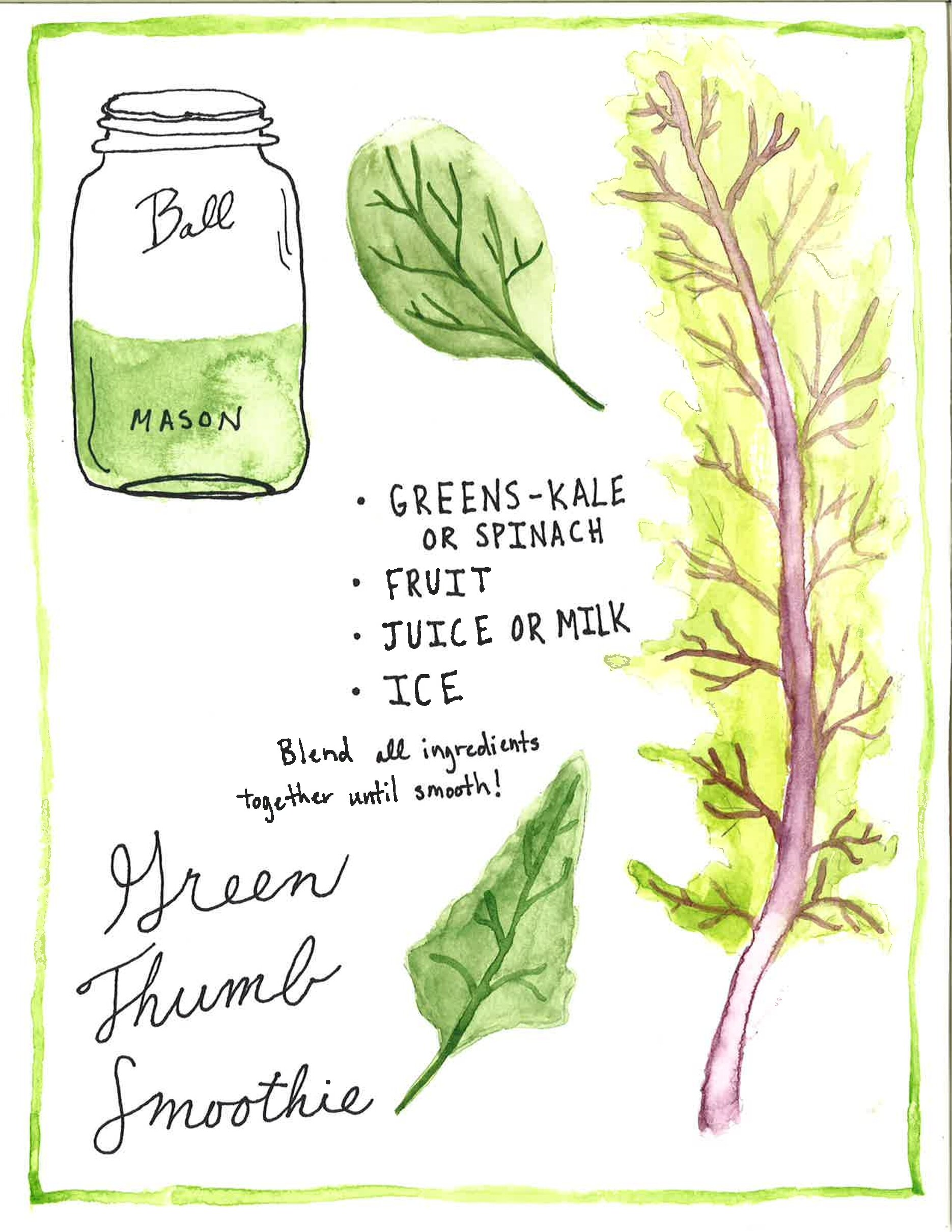 Green Thumb Smoothie - This green thumb smoothie is a great way to introduce new people to this awesome green! It's packed with essential nutrients and is still a fruity, sweet treat for any time of day.