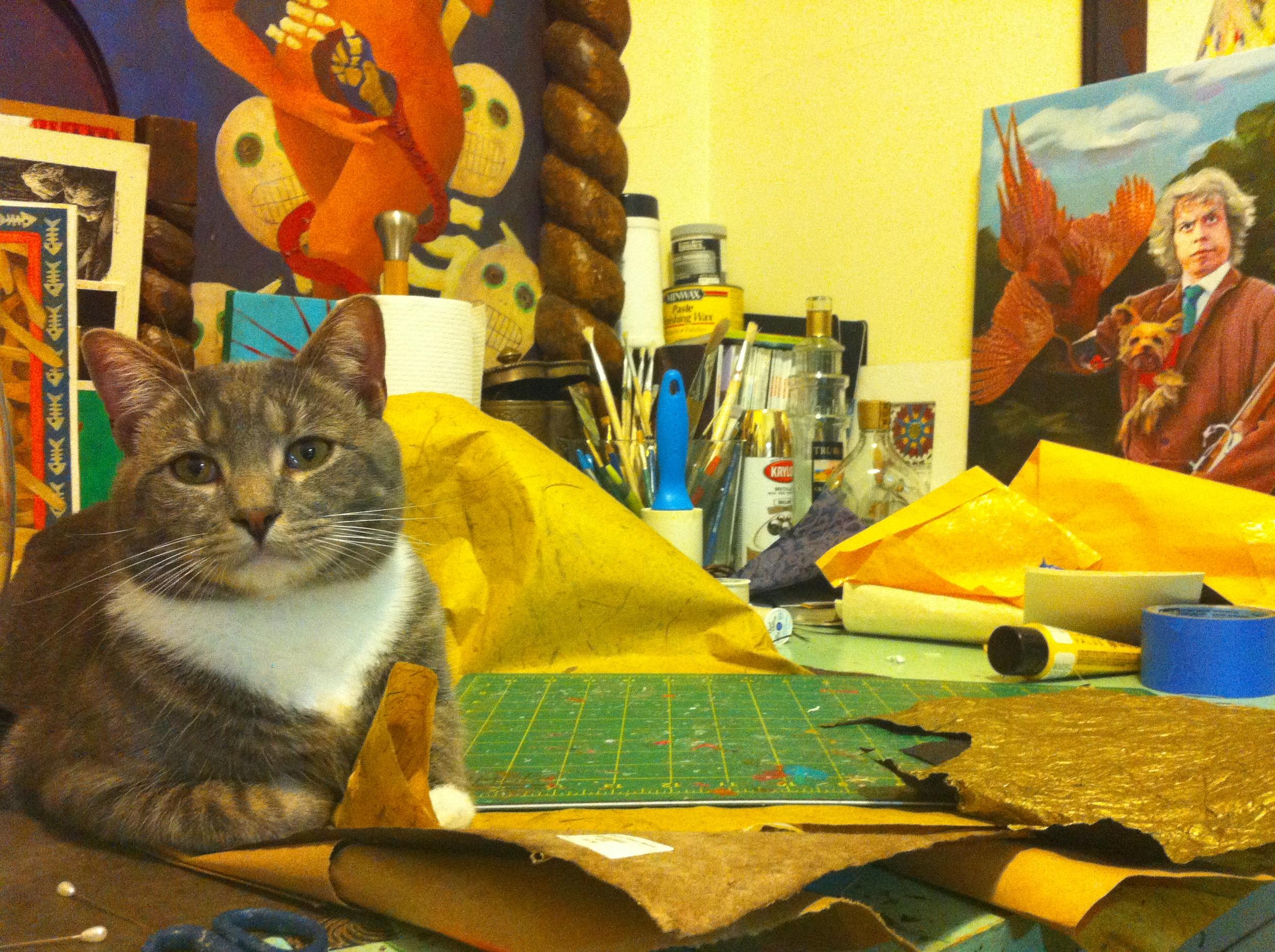 My little devil in my studio.