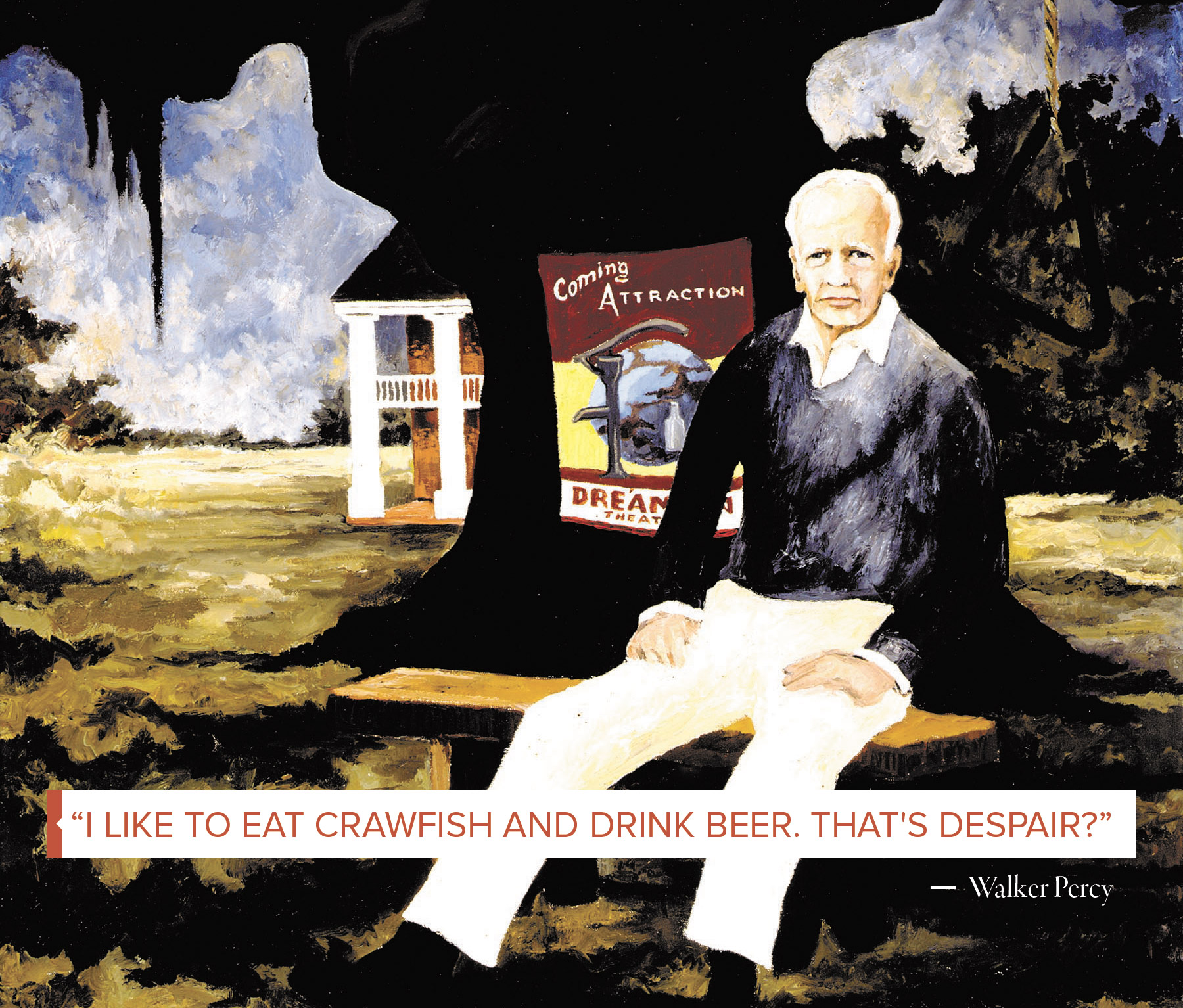 """""""George Rodrigue (1944–2013),   Walker Percy,   1982, oil on canvas, 40 x 30, collection of the artist"""""""