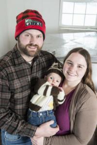 Family in Milk house