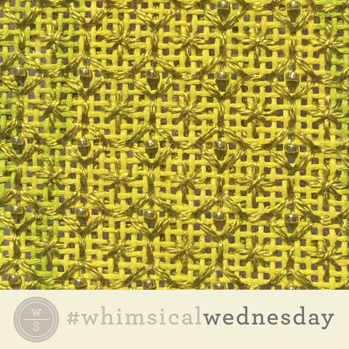 Click on image to see on whimsicalstitch.com's Instagram account. Visit instagram.com/whimsicalstitch for a library of stitched samples for select #whimsicalwednesday and #smallspacesunday stitch diagrams.