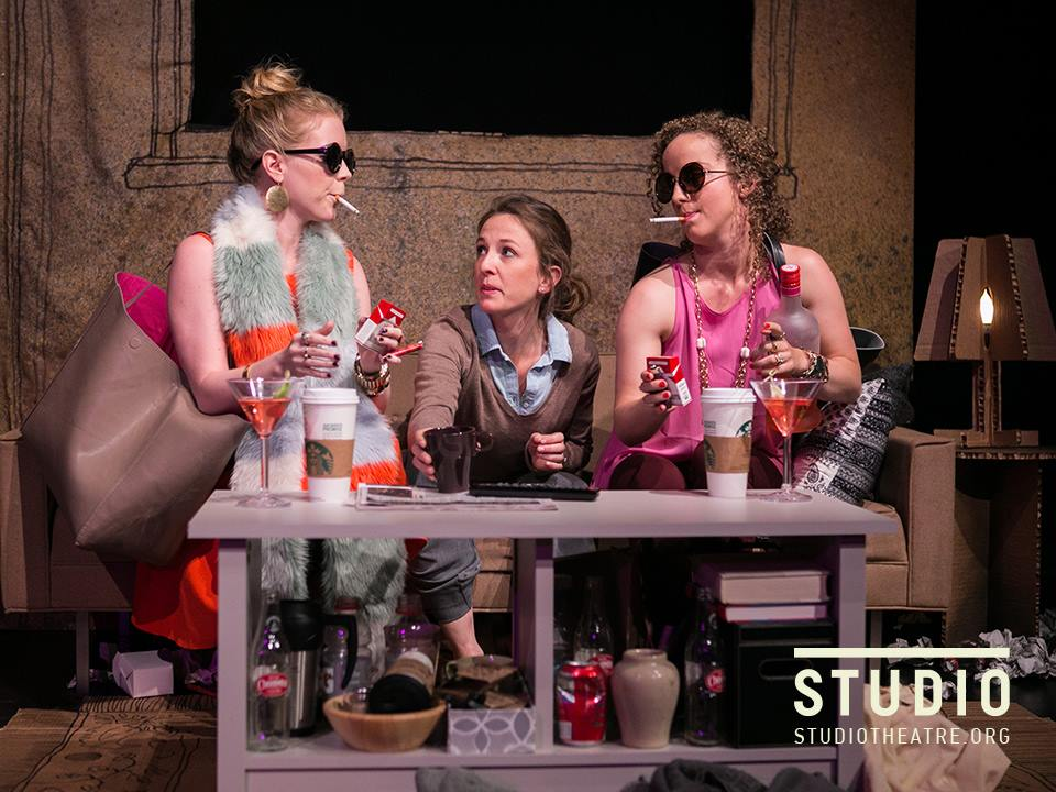 Mary-Kate Olsen is in Love at Studio 2nd Stage. Directed by Holly Twyford, Costumes by Kara Waala, Set Design by Paige Hathaway, Photo by C. Stanley Photography.
