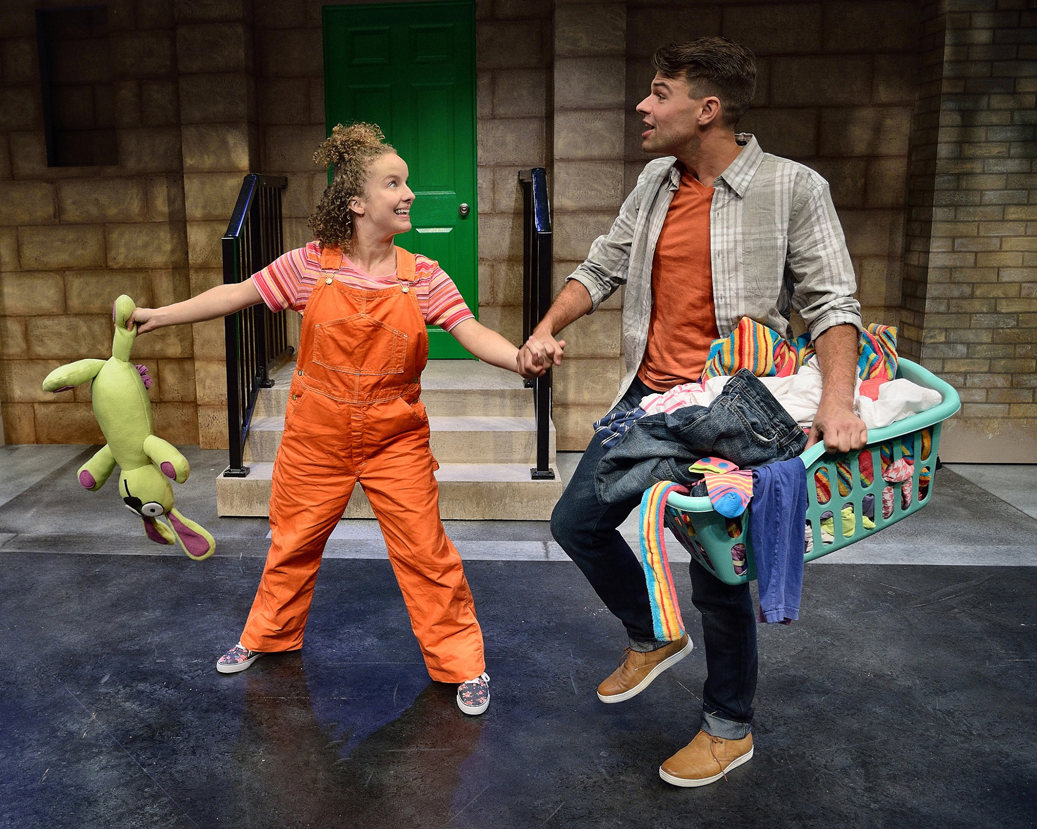 Trixie in Knuffle Bunny at Adventure Theatre MTC.  Directed by Nick Olcott, Costumes by Robert Croghan, Scenic Design by Douglas Clarke
