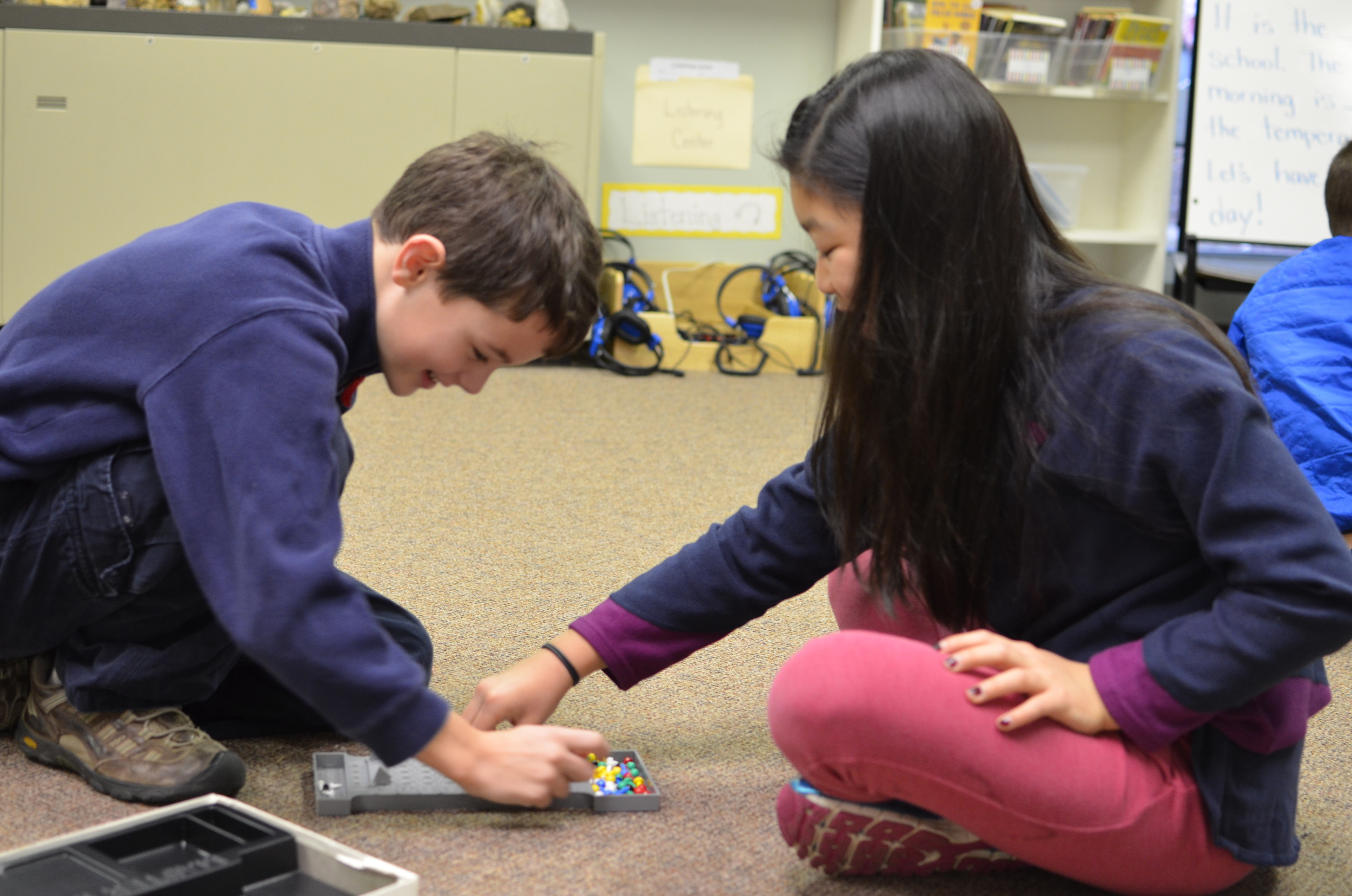 Students learn and practice giving encouragement to each other.