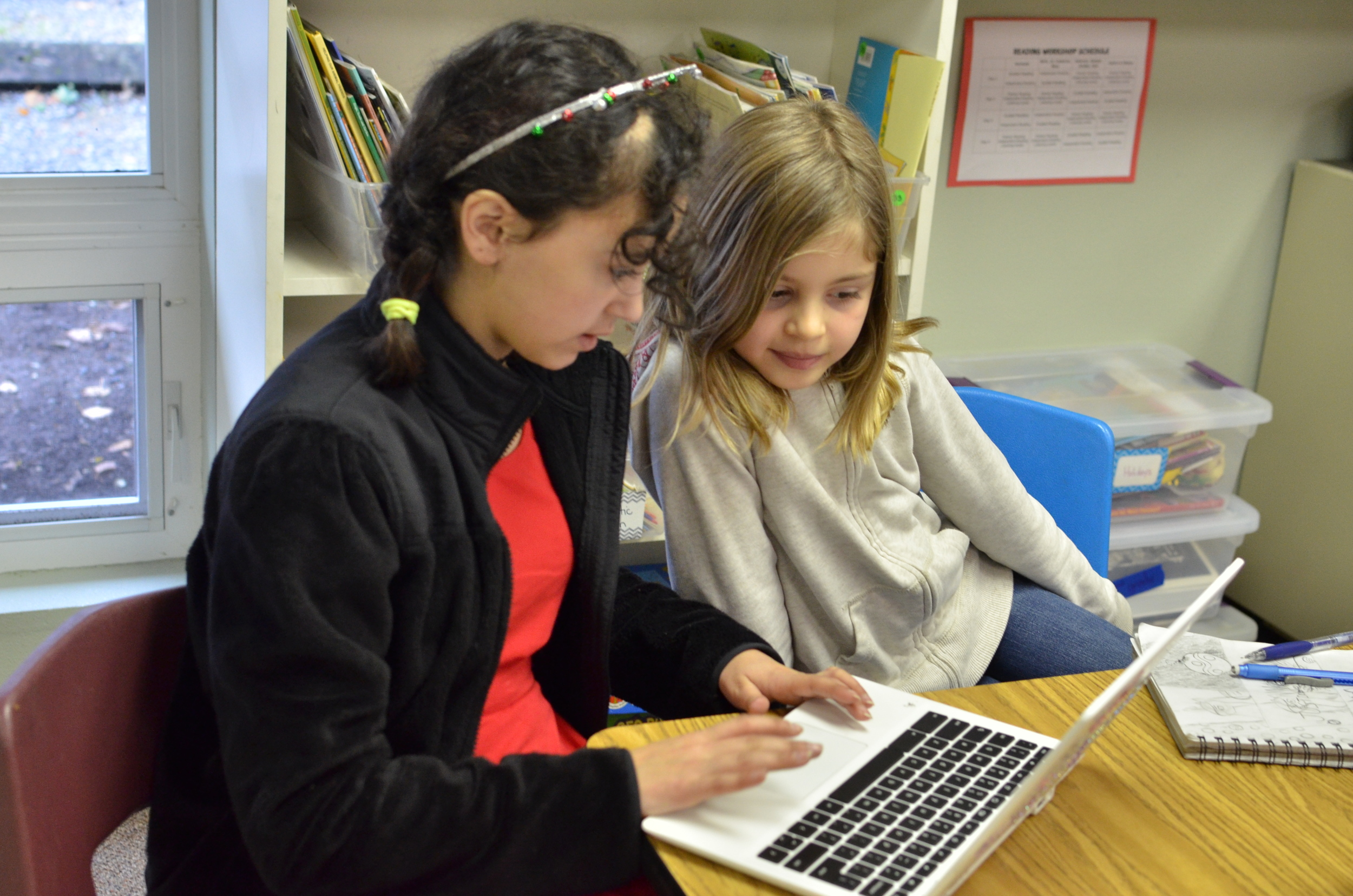 Students learn the language of code and how to communicate in digital environments.