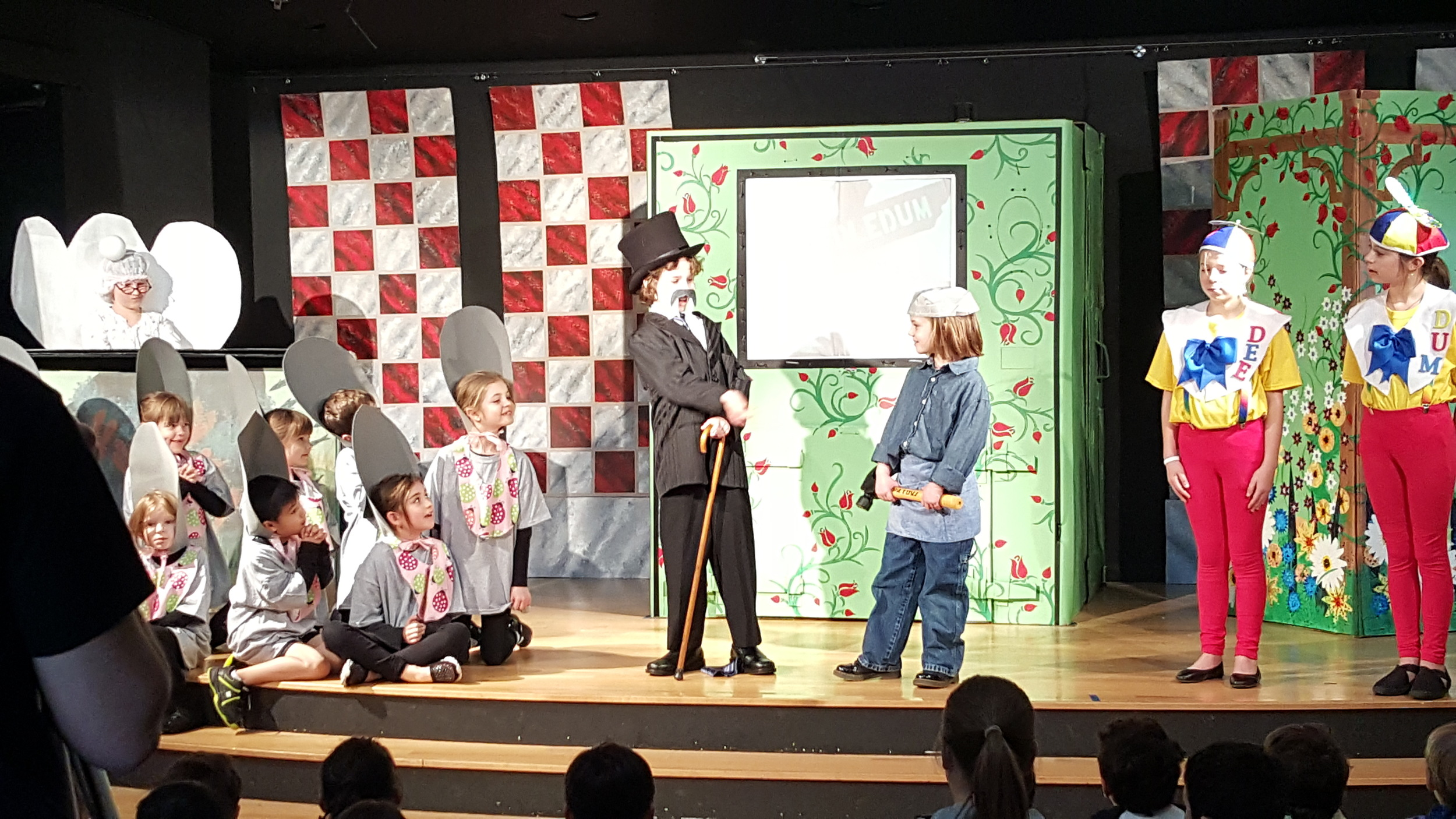 Students learn to communicate with humor, drama, body movements, and timing.