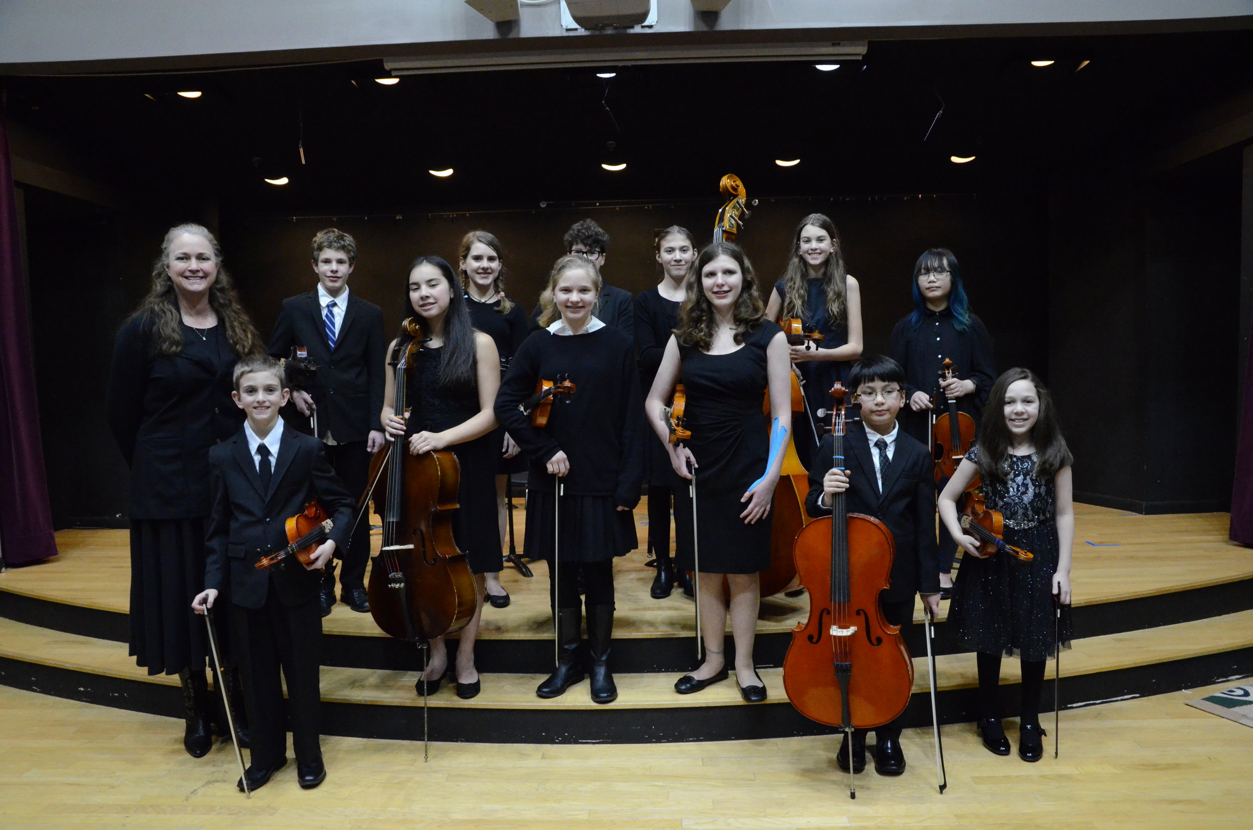 The Advanced Orchestra performs at the 2017 Winter Concert.