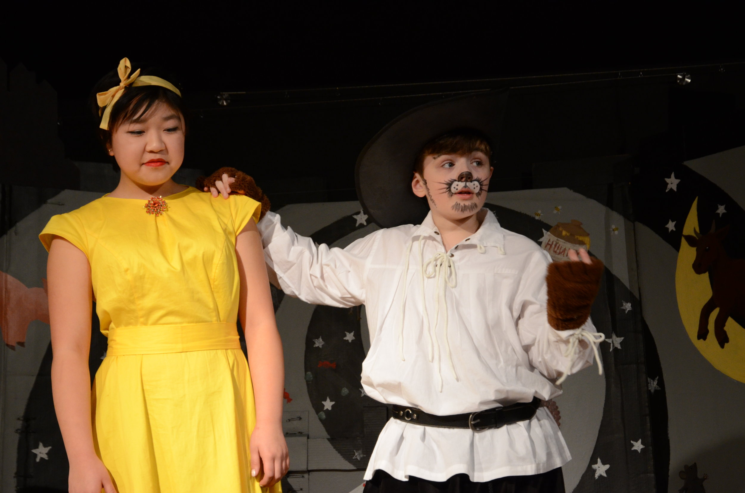 """Student performers in this year's theater production """"Cobbled."""""""