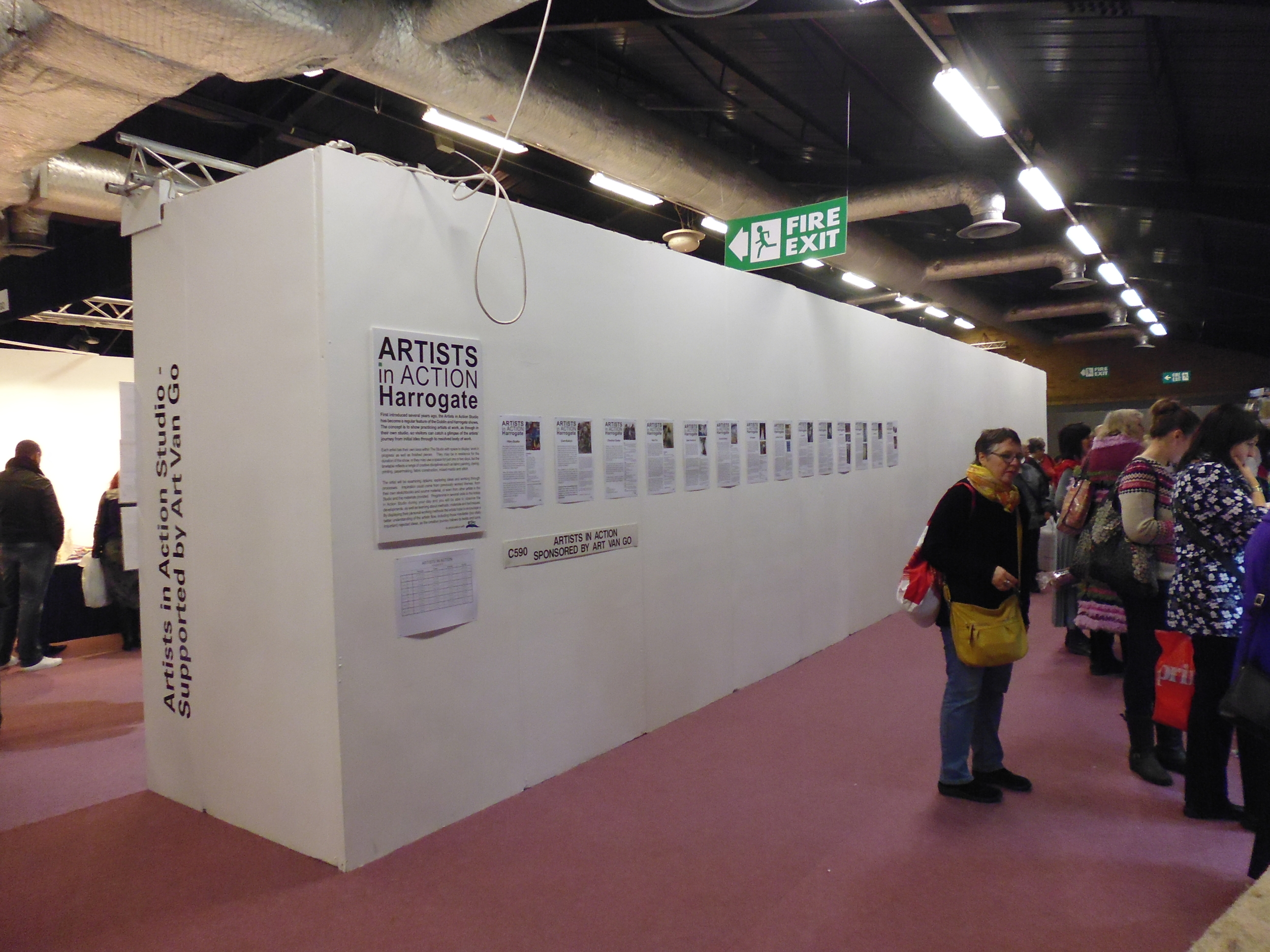 Views of the Artist in Action stand in 2013