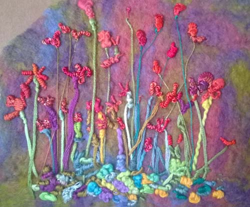 Felting Making - Example Two:  Embroidery on Felt
