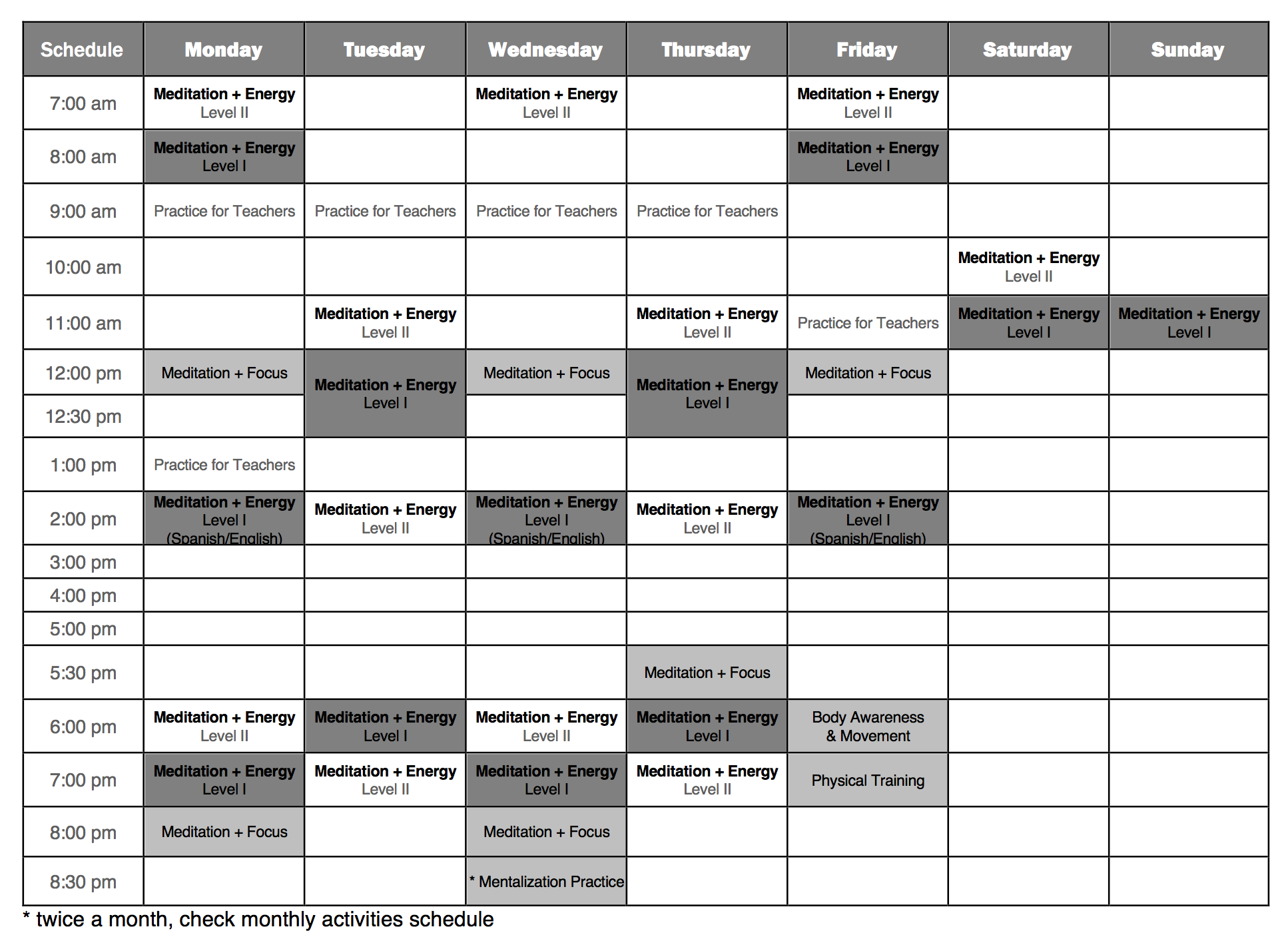 TriBeCa schedule.png