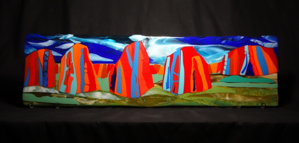 "Kolob Fingers<a href=>→</a><strong>10"" x 36"" $1600 Sold Commission Work </strong>"