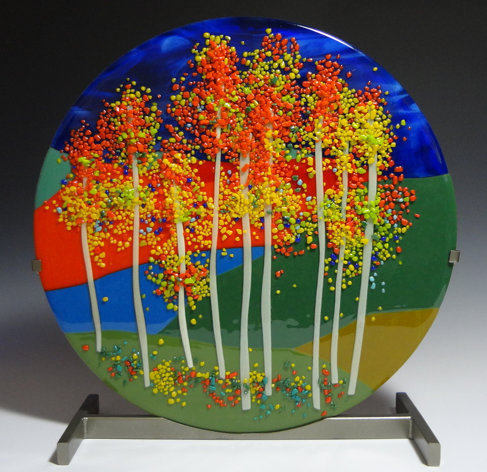 "Aspens on Cameron Wash Road<a href=>→</a><strong>18"" Diameter $850 SOLD</strong>"