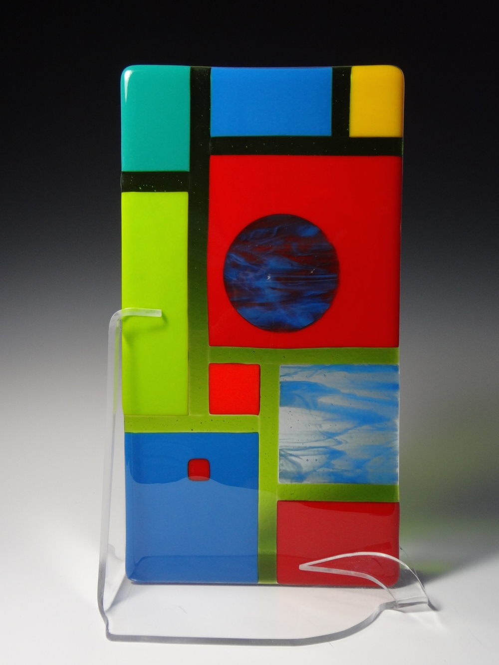 "Multi Geometric<a href=>→</a><strong>15"" x 8"" $250</strong>"