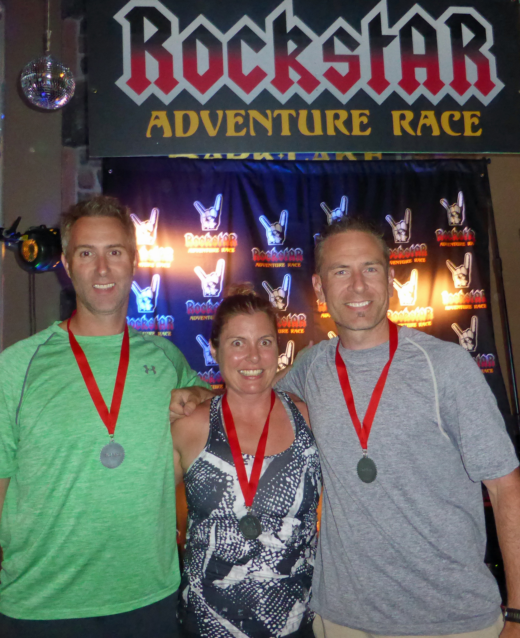 Team Spinning out of Control on the podium at the RockstAR adventure race in July.