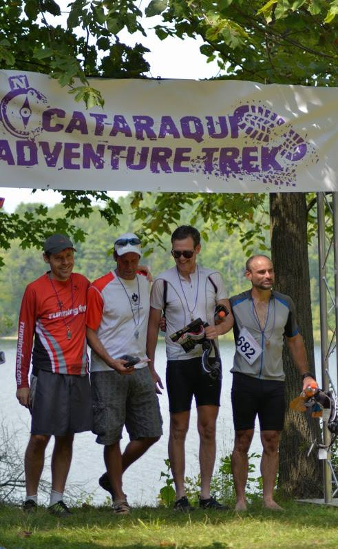 Team Crash, Splash and Dash at the Cataraqui Adventure Trek in August.