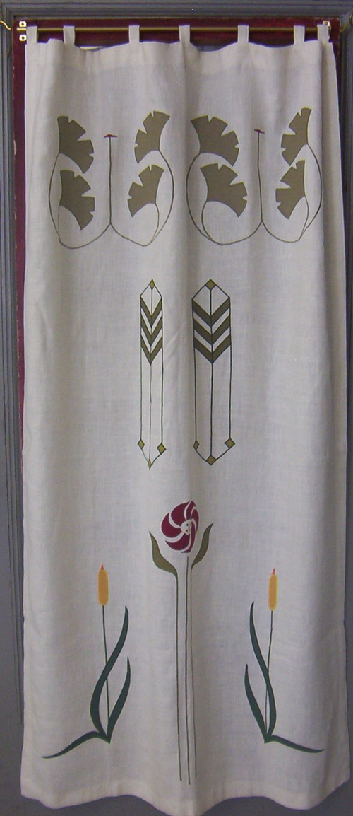Sample panel showing Ginkgo Medallion, Prairie Grass, Aster & Cat Tail designs.