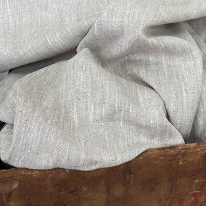 "Peasant Linen, Oatmeal:  medium weight & excellent for all designs. Oatmeal is a traditional linen weave of natural & oyster for a homespun look. 55"" wide. $24.00 per yard."