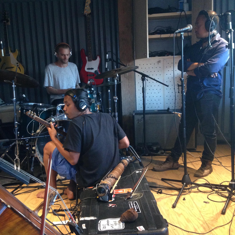 RECORDING WITH SENYAWA AND GREG FOX AT PIONEER WORKS