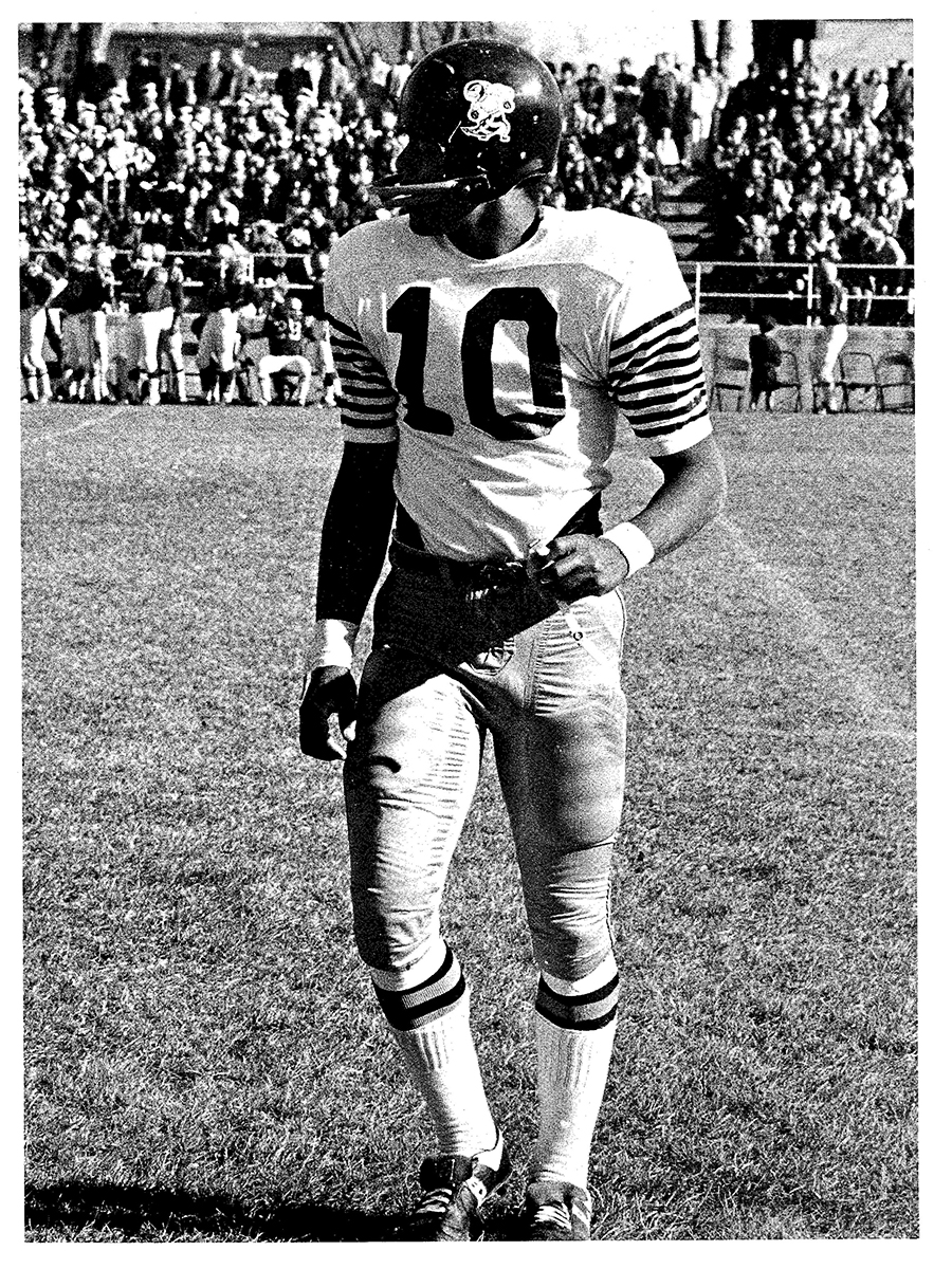 Paul Champlin--MSUB's all-time leading quarterback in the record books was drafted by the San Francisco 49ers in 1969.